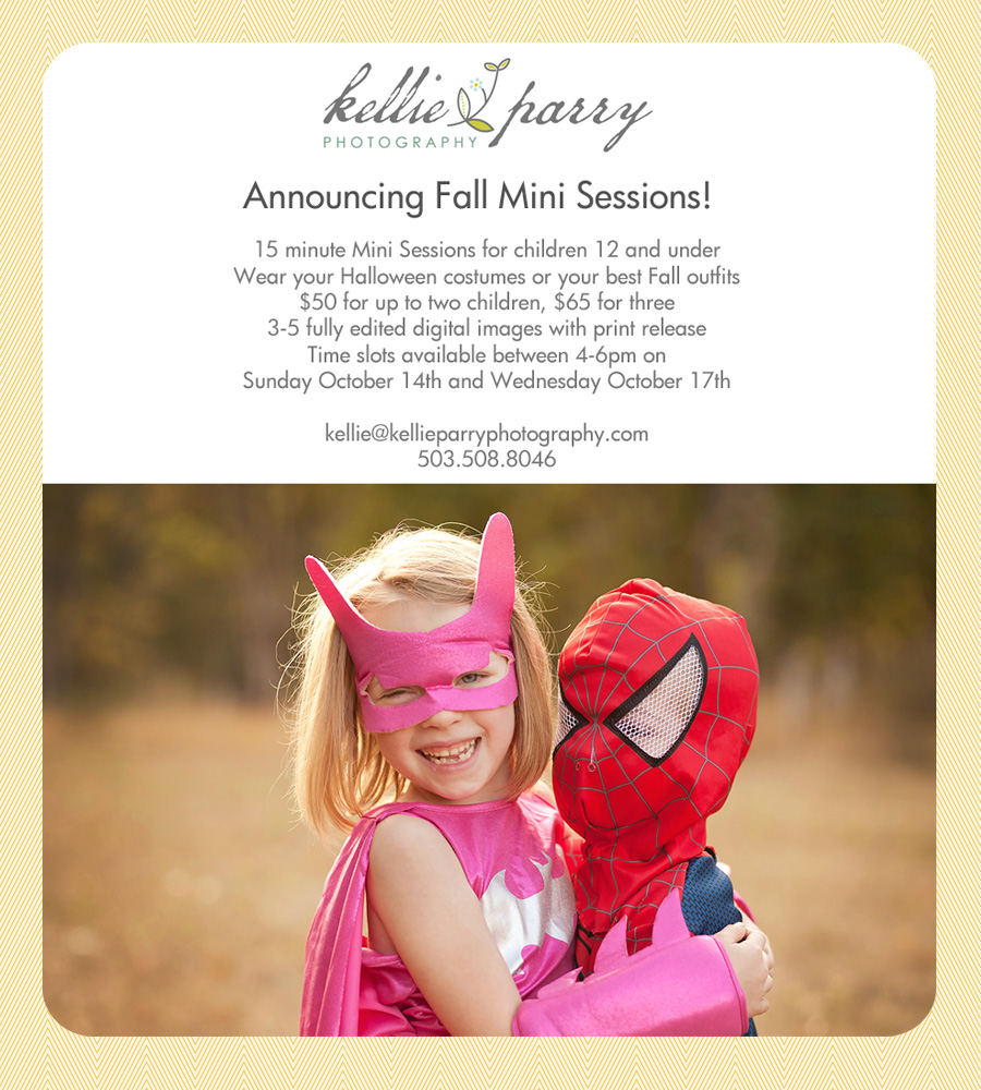fall mini session announcement